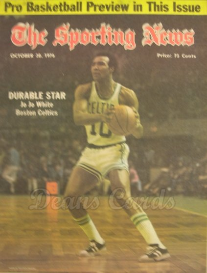 1976 The Sporting News   October 30  - Jo Jo White / Reggie Jackson / World Series coverage