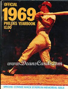 1969 Philadelphia Phillies Yearbook - Connie Mack Stadium