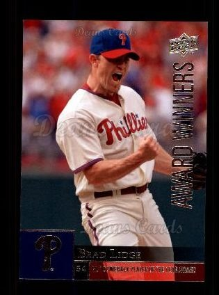 2009 Upper Deck #968   -  Brad Lidge Award Winners