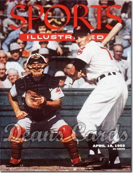 1955 Sports Illustrated - With Label   April 18  -  Al Rosen (Card Insert)