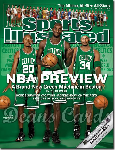 2007 Sports Illustrated - With Label   October 29  -  Ray Allen Boston Celtics