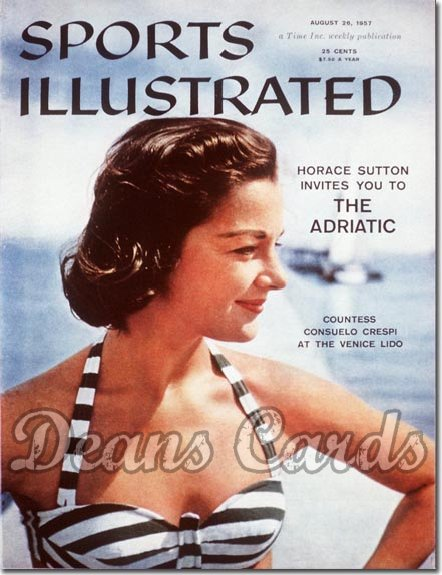 1957 Sports Illustrated - With Label   August 26  -  Countess Consuelo Crespi