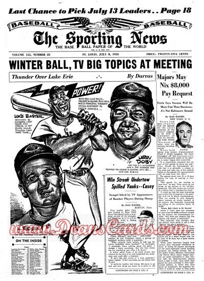 1953 The Sporting News   July 8  - Al Rosen