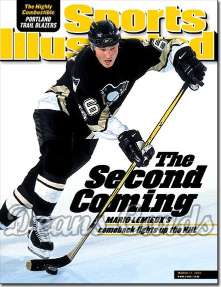 2001 Sports Illustrated - With Label   March 12  -  Mario Lemieux (Pittsburgh Penguins)