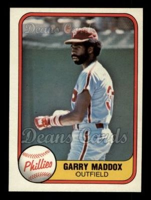 1981 Fleer #19  Garry Maddox