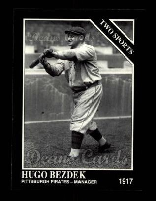 1992 Conlon #396   -  Hugo Bezdek Two Sports