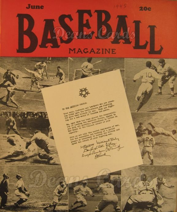 1945 Baseball Magazine    June