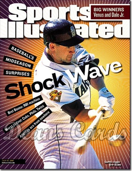 2001 Sports Illustrated   July 16  -  Bret Boone (Seattle Mariners)