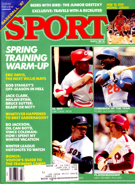 1987 Sport Magazine   -  Michael Jordan / Roger Clemens / Mike Schmidt  March