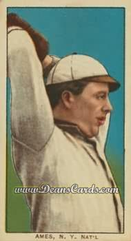 1909 T206 Reprint #8 OVR Red Ames