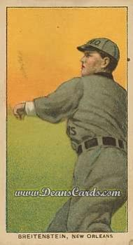 1909 T206 Reprint #50  Ted Breitenstein
