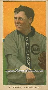 1909 T206 Reprint #57 CHI Mordecai Brown