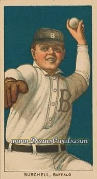 1909 T206 Reprint #62  Fred Burchell