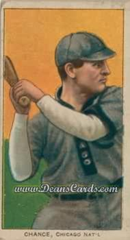 1909 T206 Reprint #77 BAT Frank Chance