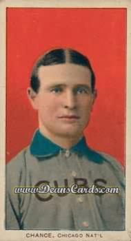 1909 T206 Reprint #78 RED Frank Chance