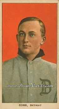 1909 T206 Reprint #98 RED Ty Cobb