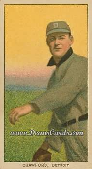 1909 T206 Reprint #110 THR Sam Crawford