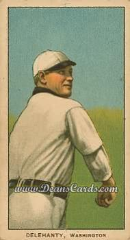 1909 T206 Reprint #123 WAS Jim Delahanty