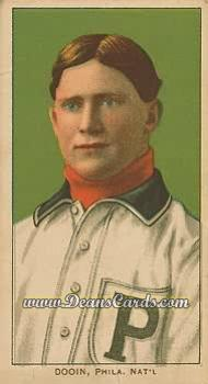 1909 T206 Reprint #136  Red Dooin