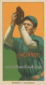 1909 T206 Reprint #145 FLD Tom Downey