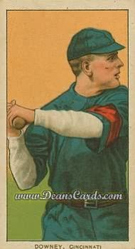 1909 T206 Reprint #144 BAT Tom Downey