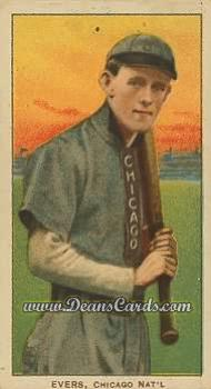 1909 T206 Reprint #167 CHI Johnny Evers