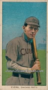 1909 T206 Reprint #168 CUB Johnny Evers