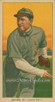 1909 T206 Reprint #187  Rube Geyer