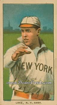 1909 T206 Reprint #272 NY Joe Lake