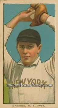 1909 T206 Reprint #302 PCH Rube Manning