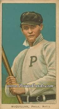 1909 T206 Reprint #329 BAT George McQuillan