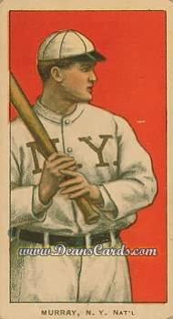 1909 T206 Reprint #354 BAT Red Murray