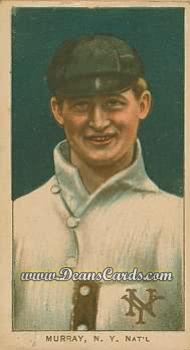 1909 T206 Reprint #355 POR Red Murray