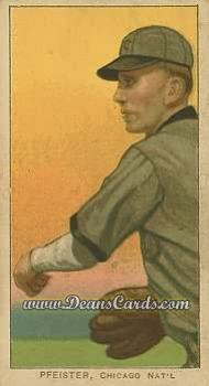 1909 T206 Reprint #390 THR Jake Pfiester