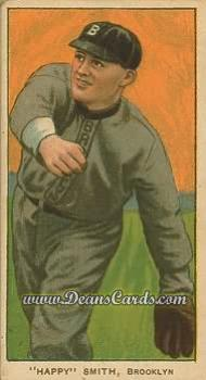 1909 T206 Reprint #452 BRK Happy Smith