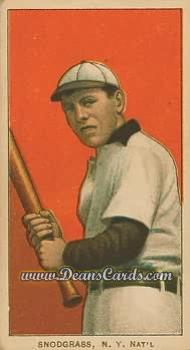1909 T206 Reprint #454 BAT Fred Snodgrass
