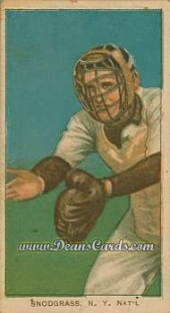 1909 T206 Reprint #456 C Fred Snodgrass