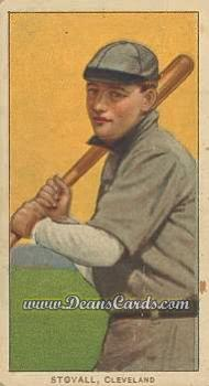 1909 T206 Reprint #469 BAT George Stovall
