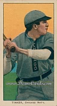 1909 T206 Reprint #487 OFF Joe Tinker