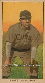 1909 T206 Reprint #489 KNE Joe Tinker