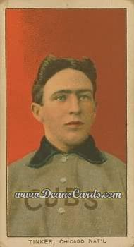 1909 T206 Reprint #490 POR Joe Tinker