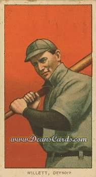 1909 T206 Reprint #512 ON Ed Willett