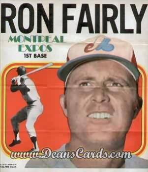 1970 Topps Poster Inserts #10  Ron Fairly
