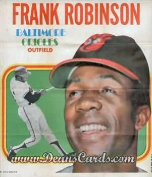1970 Topps Poster Inserts #12  Frank Robinson