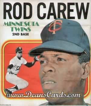 1970 Topps Poster Inserts #16  Rod Carew