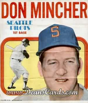 1970 Topps Poster Inserts #17  Don Mincher