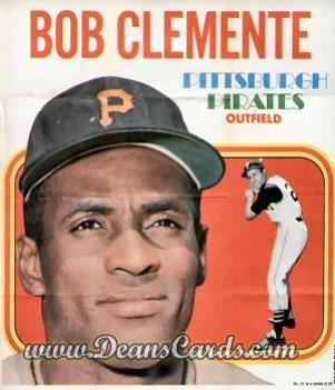 1970 Topps Poster Inserts #21  Roberto Clemente