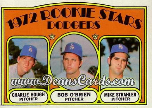 1972 O-Pee-Chee #198   -  Charlie Hough / Bob O'Brien / Mike Strahler Dodgers Rookies