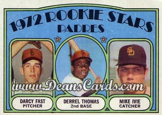 1972 O-Pee-Chee #457   -  Darcy Fast / Mike Ivie / Derrel Thomas Padres Rookies