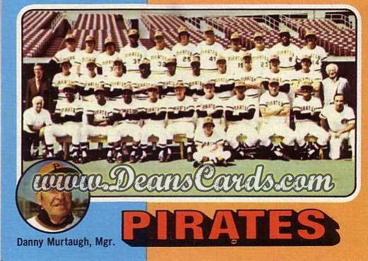 1975 O-Pee-Chee #304   -  Danny Murtaugh Pirates Team Checklist